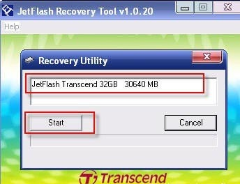 Программа JetFlash Recovery Tool
