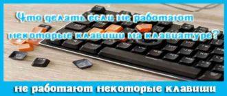Что делать если на клавиатуре не работают некоторые кнопки