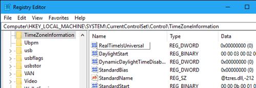 Сброс даты и времени при переключении операционных систем