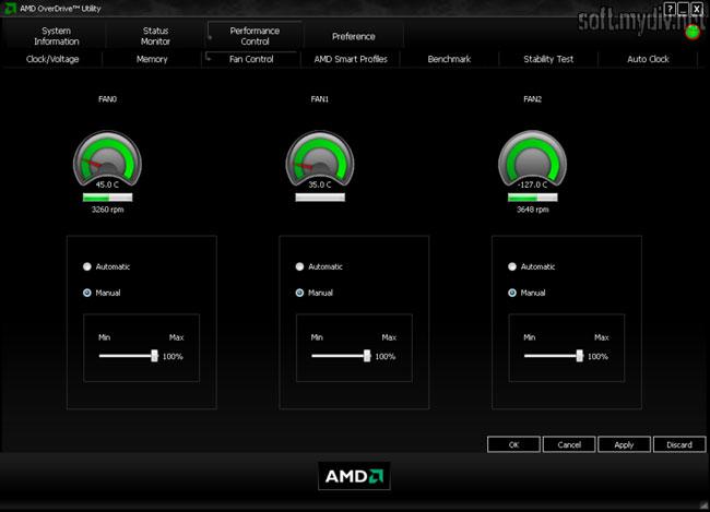 Программа AMD OverDrive