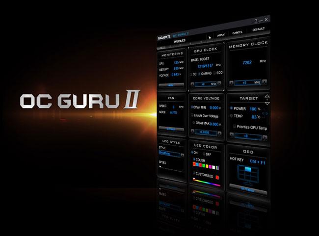 Программа GIGABITE OC Guru 2