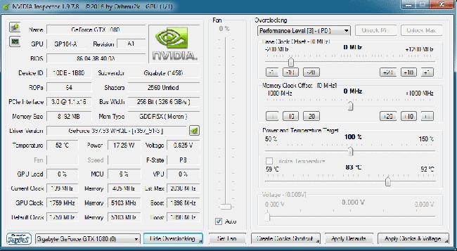 Программа NVIDIA Inspector