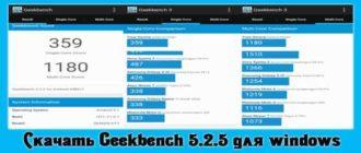 Cкачать Geekbench 5.2.5 для windows