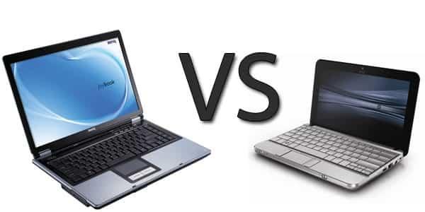 Что лучше ноутбук или нетбук